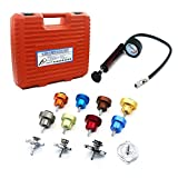Autool Car Leak Detector Kits Auto Cooling System Pump Gauge Radiator Pressure Tester