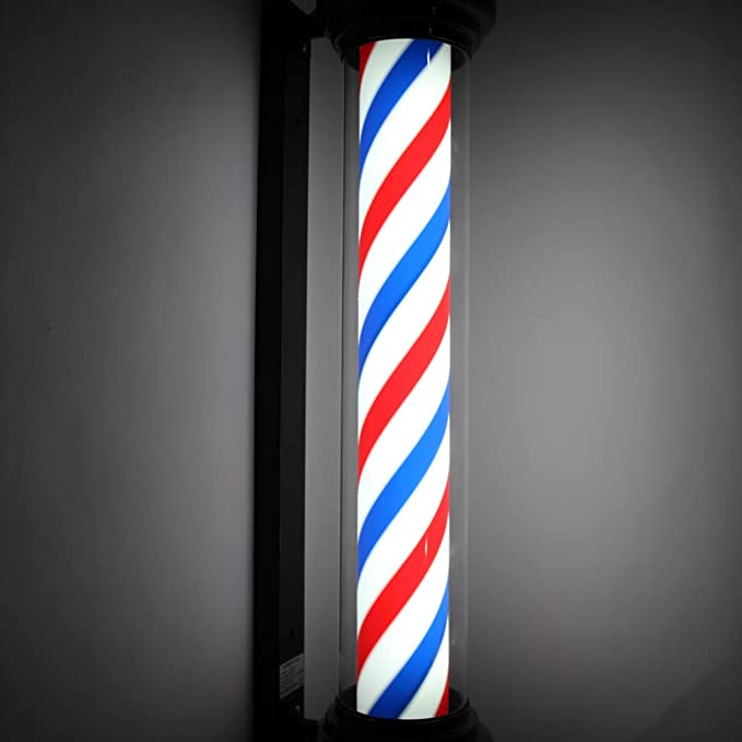 "Amazon.com: mefeir 40"" Barber Pole Luz Estilo De Roma ..."