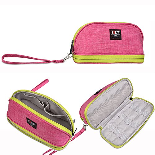 BUBM Toiletry Handbag Cosmetic Case Capacity Portable Makeup Pen Storage Bags Pouch Travel Kit Organizer (Free Perfume Pen)