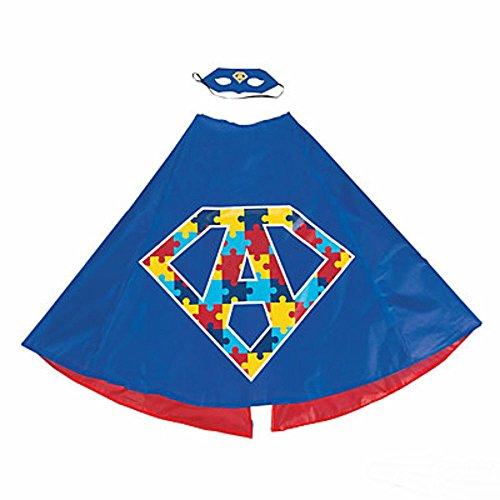 Autism Superhero Cape & Mask Set Special Needs Autism -
