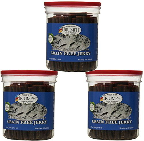 Triumph 3 Pack Of Salmon and Sweet Potato Jerky, 24 Ounces P