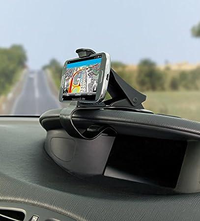 Lescars Kfz Handy Halter Universelle Smartphone Clip Halterung Fürs Armaturenbrett Bis 9 Cm Handy Autohalterung Auto