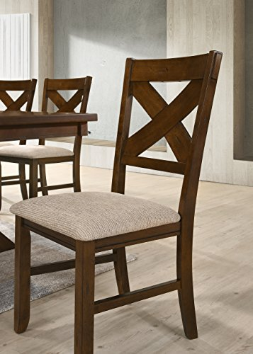 Roundhill Furniture Karven 9-Piece Solid Wood Dining Set with Table and 8 Chairs by Roundhill Furniture (Image #9)