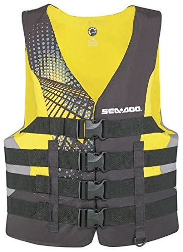 【名入れ無料】 BRP Sea-Doo Men's BRP 2015 2015 Nylon Motion PFD B0196PBTHM Life Vest Jacket (2X-Large, Yellow) B0196PBTHM, 産山村:5927b3fa --- senas.4x4.lt
