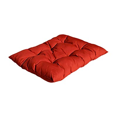 """DBM IMPORTS Replacement Cushion for Egg Shape Wicker Swing Chair Soft Pillow 40""""x31"""" (RED): Home & Kitchen"""