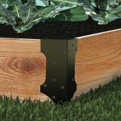 Raised Garden Bed Set of 4 Corner Brackets, Holds up to 2-inch x 12-inch planks