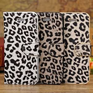 Leopard Grain Flip Wallet Leather Stand Holder Case For iPhone 5C --- Color:Yellow