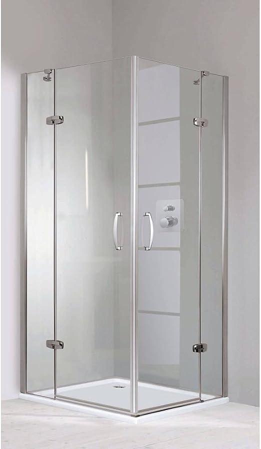 Hüppe Aura 80 x 80 entrada por la esquina con tapa las puertas al segmentos: Amazon.es: Bricolaje y herramientas