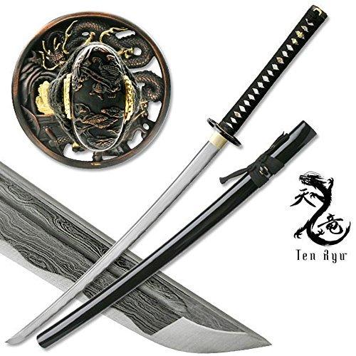 Masahiro MAZ-401 Damascus Sword of The Serpent Folded Steel Sword