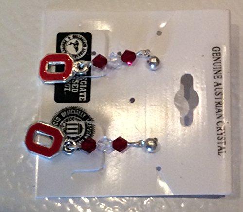 Ohio State University (OSU) Earrings #OSU3CRYSTALO