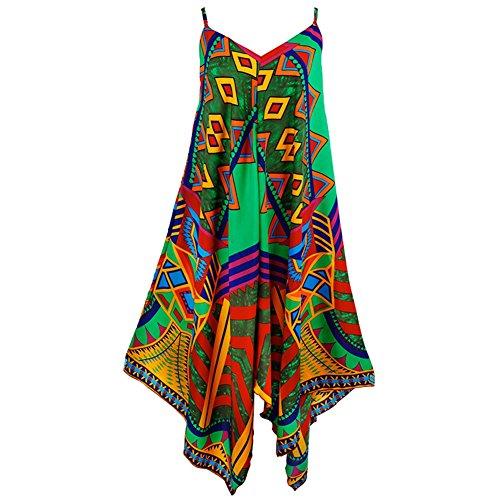 Kleider Unregelmäßige Bannfarbe Strandkleid Sommer Sexy VAusschnitt ...
