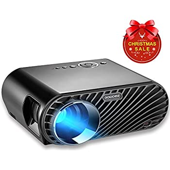 """GooDee Portable Movie Projector 3200 Lumens 1280x800 Resolution LCD Max 280"""" Home Theater Video Projector with HDMI Support 1080P VGA USB SD AV TV Laptop for Entertainment Game Party"""