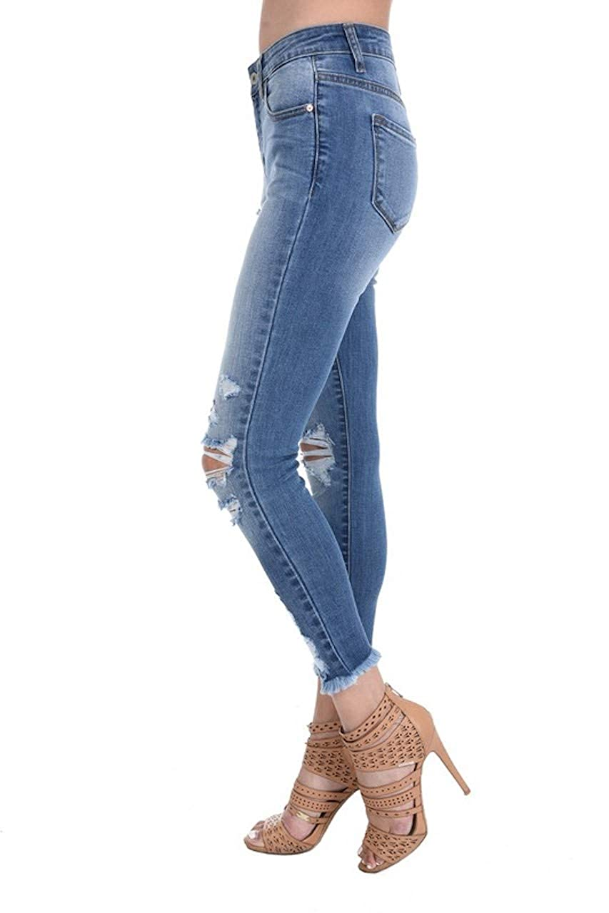 KanCan Sharon-Summer Distressed Ripped Ankle Skinny Jeans