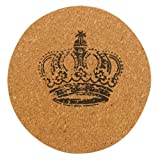 cup mat - SODIAL(R)1pcs Plain Round Cork Coasters Coffee Drink Tea Cup Mat Placemats Wine Imperial crown