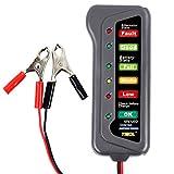 TIROL 12V LED Digital Battery Alternator Tester 6 Led Lights Display Indicates Condition