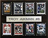 C&I Collectables NFL Dallas Cowboys Troy Aikman 8 Card Plaque
