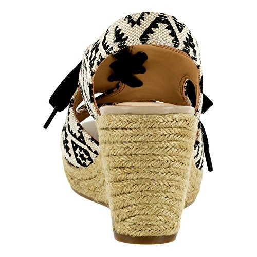 Sandale Natural Keilabsätze Tribal Damen Bella Gracia Breit Vita Canvas wnHqURX6