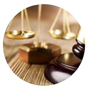 alfombrilla de ratón Mazo, el tema de la ley, mazo de juez - ronda - 20cm