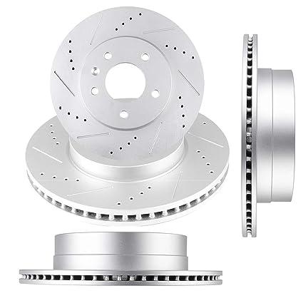 ECCPP Brakes and Rotors Brake Kit 4pcs Drilled Slotted Discs Brake Rotors fit for 2012-