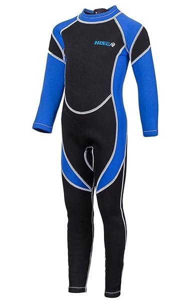 Fortuning s JDS Traje de neopreno de manga larga traje de una pieza de surf  de manga larga para niños niños niñas  Amazon.es  Ropa y accesorios 40977602d6d