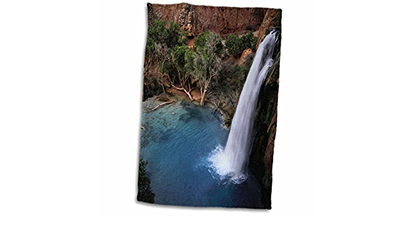 Amazon Com 3d Rose Arizona Grand Canyon Havasu Falls In Havasupai Indian Tribal Lands Hand Towel 15 X 22 Multicolor Home Kitchen