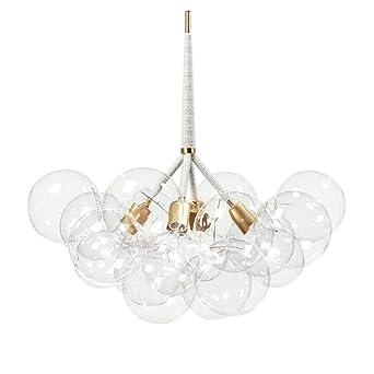 Charmant Luminaire Suspension Moderne Lampe Plafonnier Pendant Lampe Edison E27 220V  4 Lumières 12 Boules De Verre
