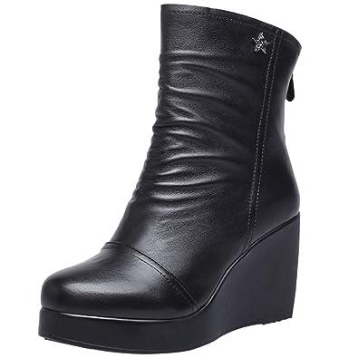 Bottes Mme Martin Bottes Bottines Printemps Et Automne Hiver Talons Hauts  Chaussures en Coton  Amazon.fr  Chaussures et Sacs 1dc2d45cf6a