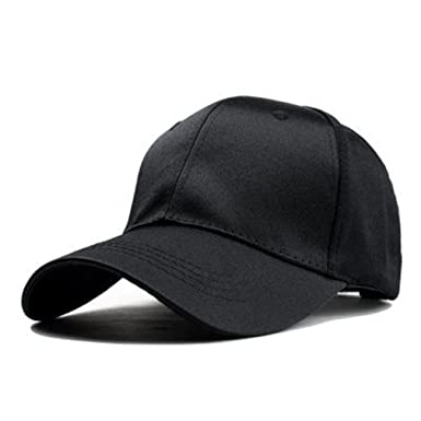 Amazon.com: Summer Baseball Cap Women Snapback Hats for Men Sun Hat Female Simple Solid Color Casual Gorras Cap Black: Clothing