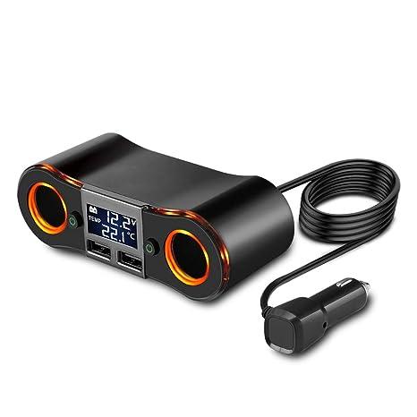 5V 3.5A Cargador USB doble para automóvil, encendedor de ...