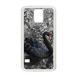 TOSOUL Customized Print Swan Hard Skin Case For Samsung Galaxy S5 I9600