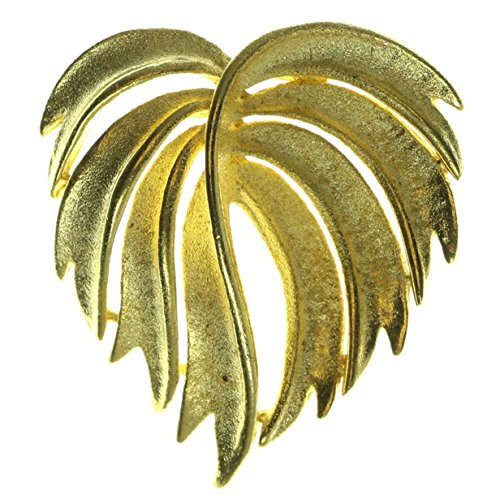 Brooch Gold Leaf Pin (Leaf Brooch Pin Gold Color #LQP78)