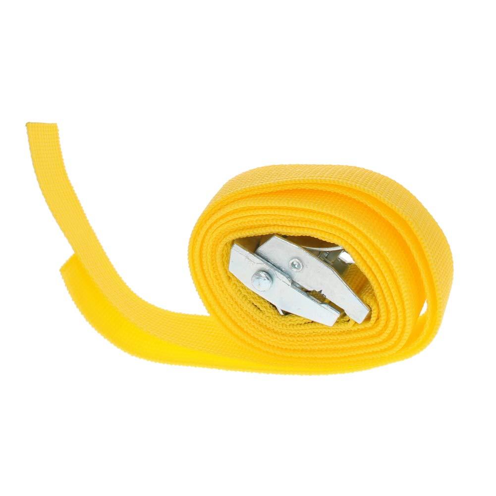 2Pcs Yellow MroMax 1M x 25mm Lashing Strap Cargo Tie Down Straps w Cam Lock Buckle 150Kg Work Load