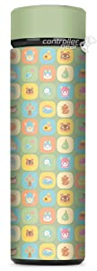 Controller Gear Animal Crossing: New Horizons - Fruit Icons Vacuum Insulated Stainless Steel Sport Water Bottle, Leak Proof, Wide Mouth, 17 oz, 500 ML - Not Machine Specific
