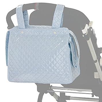 BOLSO Talega/ Panera Maternal Carro Bebe CELESTE. Incluye bolsillos interiores. Bolso Talega,