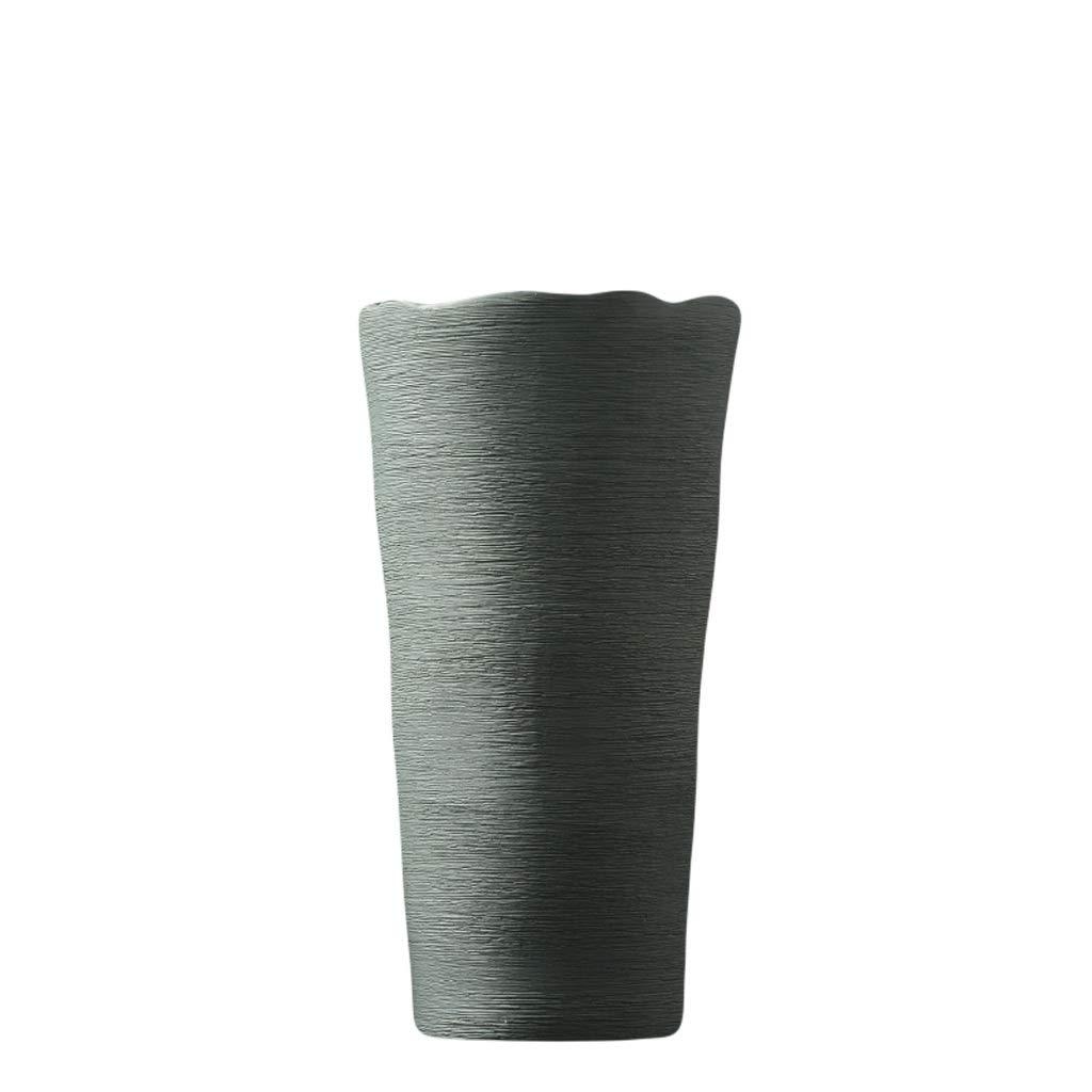 LIULIJUN 花瓶現代のミニマリストセラミック花瓶装飾クリエイティブファッションフラワーアレンジメントフラワーフラワーガーデンリビングルームのテーブルホームデコレーション (Size : M) B07T7VD4MS  Medium