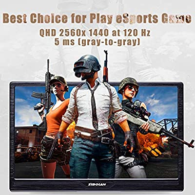 SIBOLAN S17 17.3 inch Gaming Portable Monitor HDR 2560×1440 120Hz 5ms with Dual HDMI Mini Input Build in Speaker Luxury Aluminum Alloy Shell