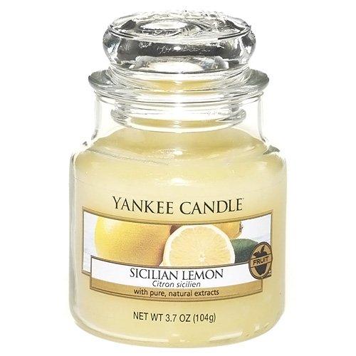10 opinioni per Yankee candle 1230637E Sicilian Lemon Candele in Giara Piccola, Vetro, Giallo,
