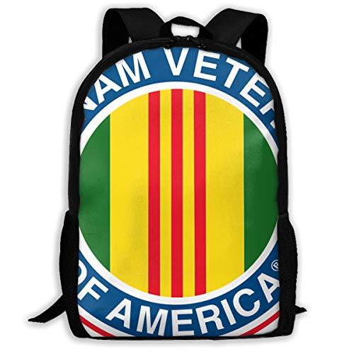 Backpack For Girls Boys Membership With Vietnam Veterans Zipper School Bookbag Daypack Travel Rucksack Gym Bag For Man Women
