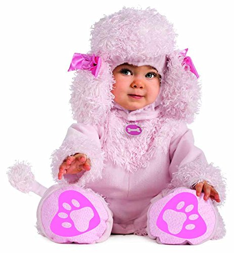 [Rubie's Costume Cuddly Jungle Pink Poodles Of Fun Romper Costume, Pink, 6-12 Months] (Family Halloween Costumes With Baby And Dog)