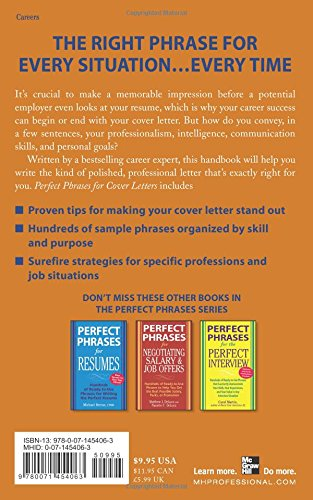 Perfect Phrases for Cover Letters (Perfect Phrases Series): Michael ...