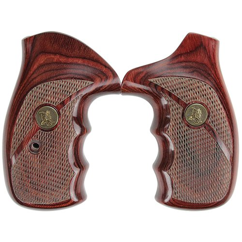Pachmayr 63040 Renegade Wood Laminate Pistol Grips, Smith & Wesson N Frame, Rosewood, Checkered (Smith And Wesson Pachmayr Grips)