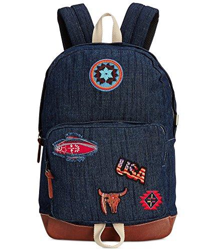Steve Madden Destressed Patchwork Designer Denim Backpack ()