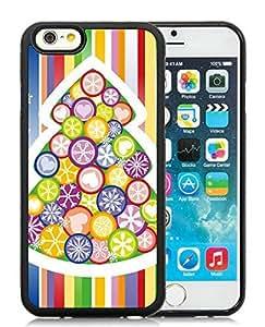 Customized Design iPhone 6 Case,Christmas Tree Black iPhone 6 4.7 Inch TPU Case 2