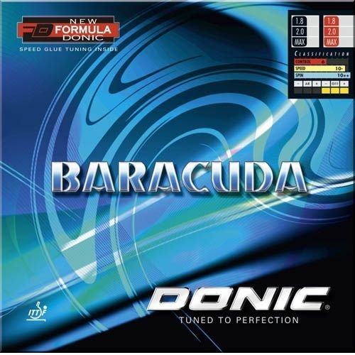 DONIC Baracuda Table Tennis Rubber (Red, Max)