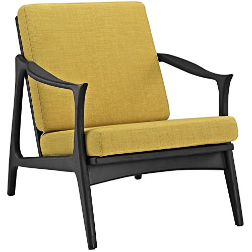 Modway Pace Armchair, Black Yellow