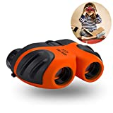 Cheap Best Toys for 4-9 Year Old Boys, Three Ducks Toys Binoculars For Kids,8×21 Compact Telescope Boys Gifts 10 Years Old to Wildife and Theater,Gifts for Girl 8 Year Old(Orange)