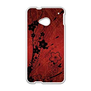 Artistic aesthetic flowers fashion phone case for HTC One M7
