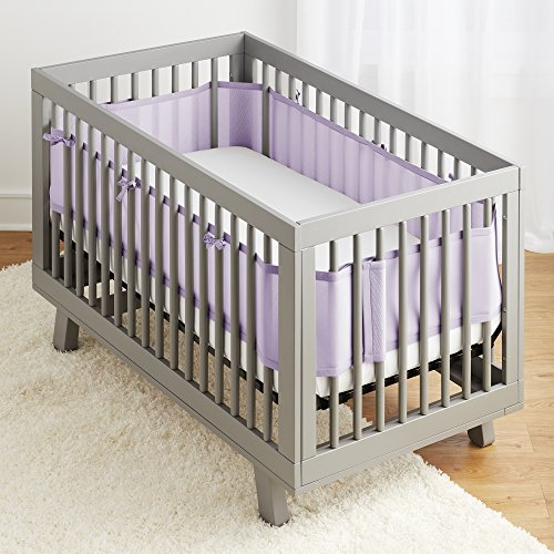 BreathableBaby | Breathable Mesh Crib Liner | Patented Design | Doctor Endorsed | Helps Prevent Arms and Legs from Getting Stuck Between Crib Slats | Independently Tested for Safety | Lavender by BreathableBaby (Image #1)