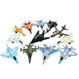 Airplane Toys Set of Die Cast Metal Military Themed  Fighter Jets For Kids, Boys or Girls - Great Gift, Party Favors or Cake Toppers