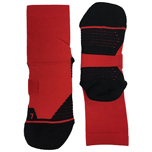 Tennis Compression Socks HUSO Elite Reinforce Support Athletic Ankle Hiking Football Socks for Men 2 Pairs by Huso (Image #5)